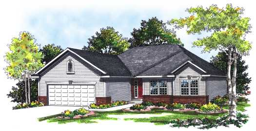 Ranch Style Home Design Plan: 7-237