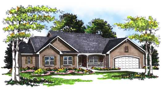 Ranch Style House Plans Plan: 7-238