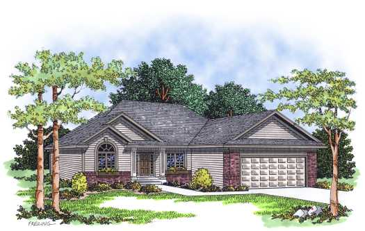 Traditional Style Home Design Plan: 7-239