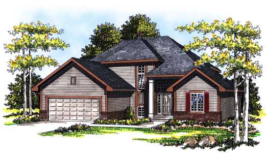 Traditional Style Home Design Plan: 7-240