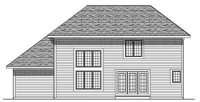 Rear Elevation Plan: 7-240