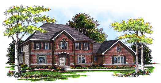 Southern-colonial Style Floor Plans Plan: 7-241