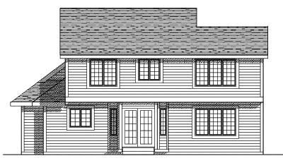 Rear Elevation Plan: 7-242
