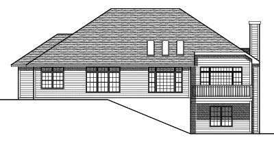 Rear Elevation Plan: 7-243