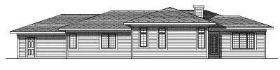 Rear Elevation Plan: 7-244