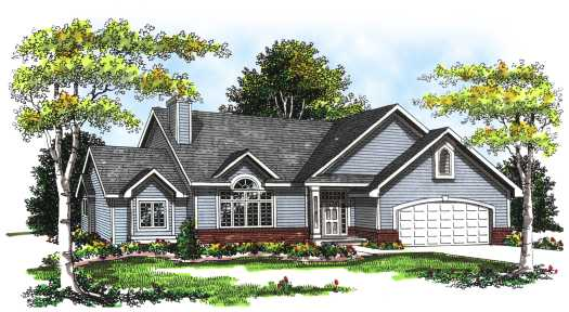 Traditional Style Home Design Plan: 7-245