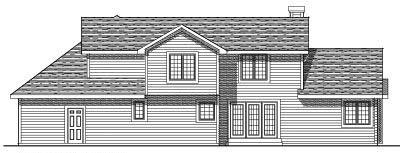 Rear Elevation Plan: 7-245