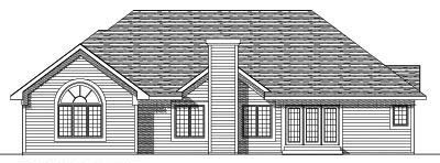 Rear Elevation Plan: 7-246