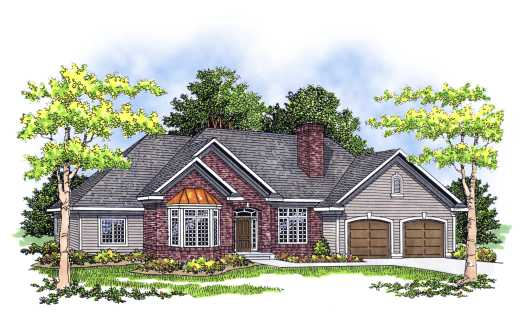 Traditional Style Floor Plans Plan: 7-247