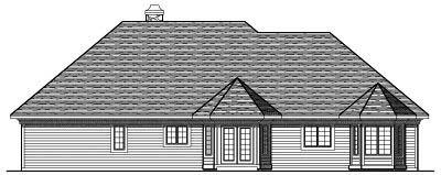 Rear Elevation Plan: 7-249