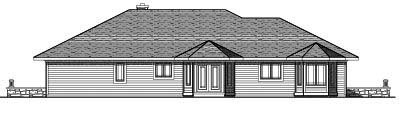 Rear Elevation Plan: 7-250