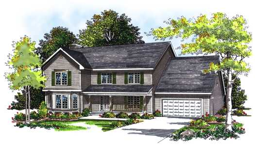 Traditional Style Floor Plans Plan: 7-251