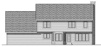 Rear Elevation Plan: 7-251