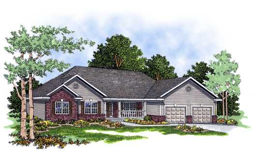 Traditional Style Home Design Plan: 7-252