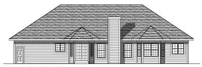 Rear Elevation Plan: 7-252