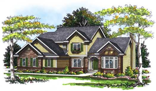 Traditional Style Home Design Plan: 7-253