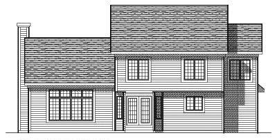 Rear Elevation Plan: 7-253