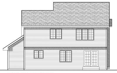 Rear Elevation Plan: 7-255