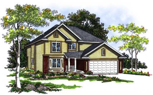 Traditional Style Home Design Plan: 7-256
