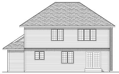 Rear Elevation Plan: 7-256