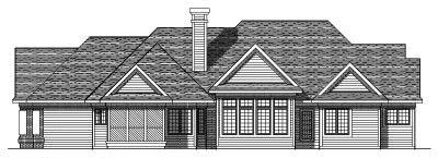 Rear Elevation Plan: 7-258