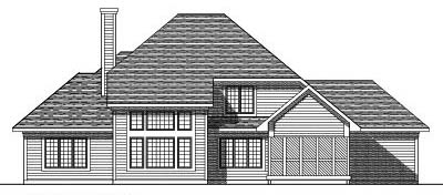Rear Elevation Plan: 7-259