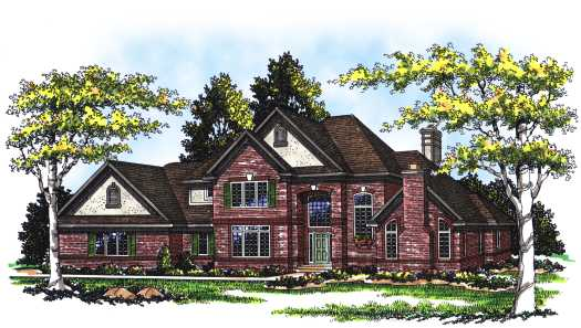 European Style Home Design Plan: 7-260