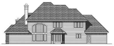 Rear Elevation Plan: 7-260