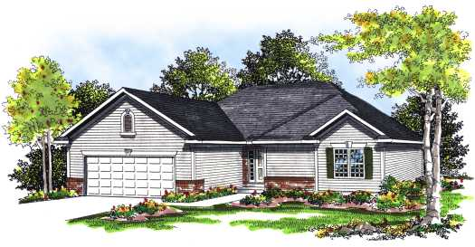 Ranch Style Floor Plans Plan: 7-261