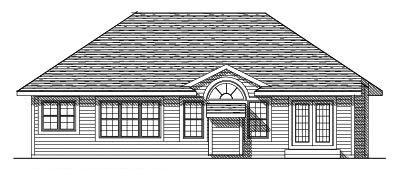 Rear Elevation Plan: 7-261