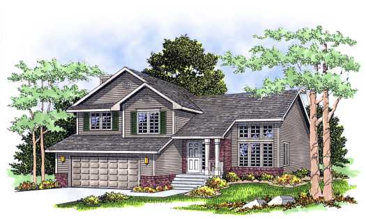 Traditional Style Home Design Plan: 7-263