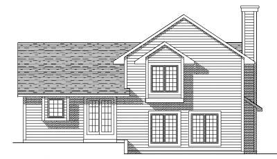 Rear Elevation Plan: 7-263