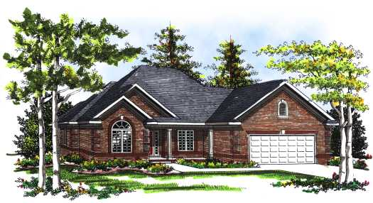 Traditional Style Home Design Plan: 7-264