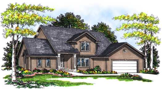 Traditional Style Home Design Plan: 7-266