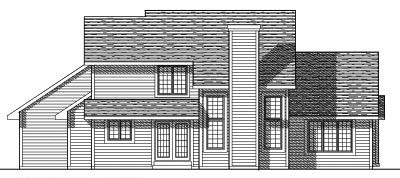 Rear Elevation Plan: 7-266