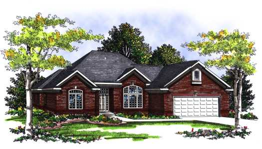 Traditional Style Home Design 7-267