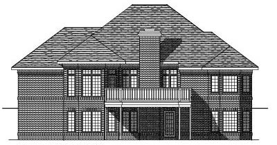 Rear Elevation Plan: 7-268