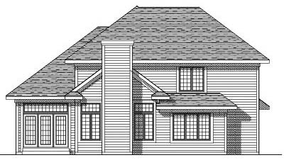 Rear Elevation Plan: 7-269