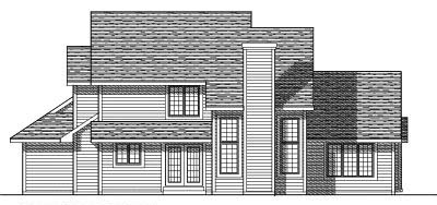 Rear Elevation Plan: 7-270