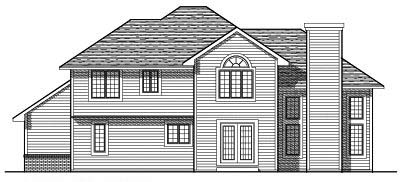 Rear Elevation Plan: 7-271
