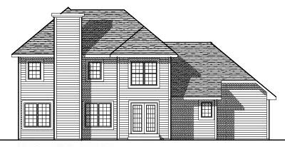 Rear Elevation Plan: 7-272