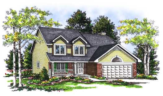Country Style Home Design Plan: 7-273
