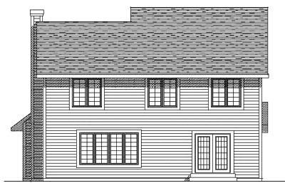 Rear Elevation Plan: 7-273
