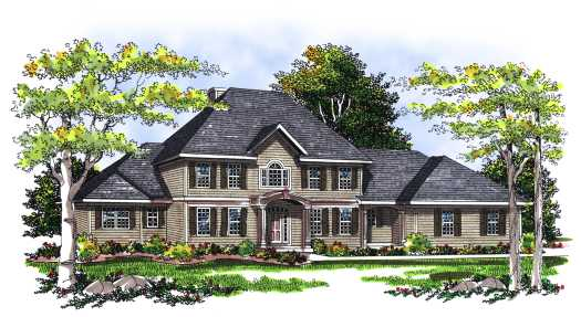 Traditional Style Home Design Plan: 7-274
