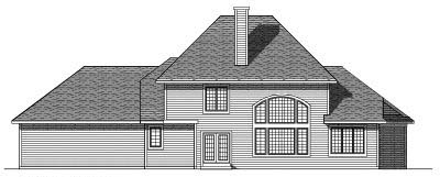 Rear Elevation Plan: 7-274