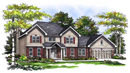 Traditional Style Home Design Plan: 7-275