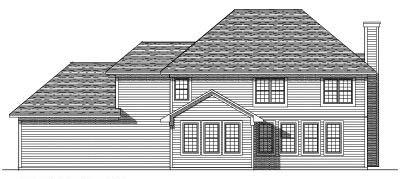 Rear Elevation Plan: 7-275