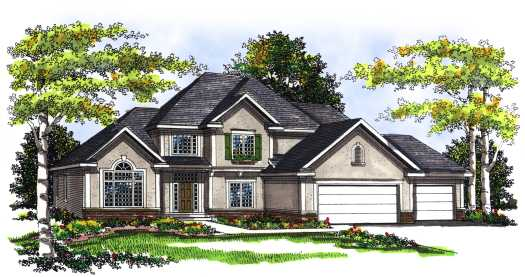 Traditional Style Home Design Plan: 7-277