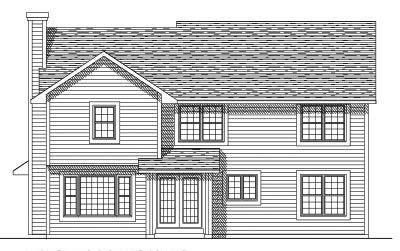 Rear Elevation Plan: 7-278