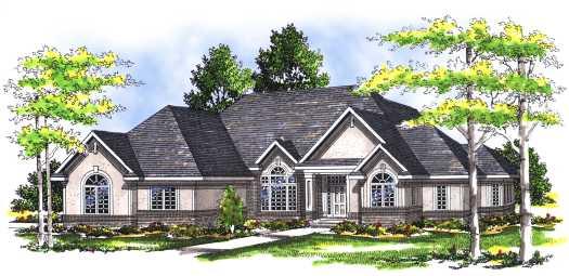 European Style House Plans Plan: 7-279